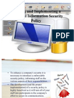 Building and Implementing a Successful Information Security Policy
