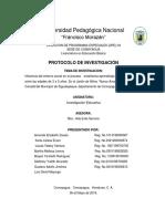 Protocolo de Investigacion Jardin de Niños Nuevo Amanecer