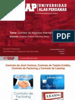 Semana 3 - 2018-1 - Contrato de Joint Venture, Tarjeta de Crédito, Factoring y Leasing
