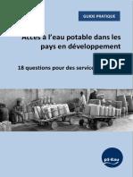 Guide Pratique PS EAU 18 Questions Services Durables