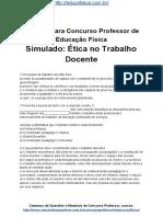 Simulado Concurso Professor de Educacao Fisica Questoes Concurso Pedagogia Simuladoo Etica No Trabalho Docente Docx