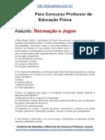 Simulado Concurso Professor de Educacao Fisica Material Gratis Concurso SEDUC Recreacao e Jogos Docx