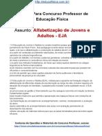 Simulado Concurso Professor de Educacao Fisica Material Gratis Concurso SEDUC Simulado Alfabetizacao de Jovens e Adultos Docx