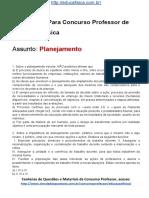 Simulado Concurso Professor de Educacao Fisica Material Gratis Concurso SEDUC Simulado Planejamento Docx