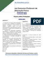 Simulado Concurso Professor de Educacao Fisica Material Gratis Concurso SEDUC Simulado PPP Docx