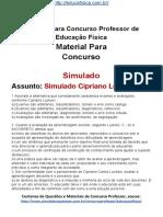 Simulado Concurso Professor de Educacao Fisica Questoes Concurso Pedagogia Simulado Cipriano Luickesi Docx