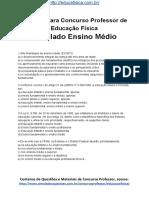 Simulado Concurso Professor de Educacao Fisica Questoes Concurso Pedagogia Simulado Ensino Medio Docx