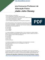 Simulado Concurso Professor de Educacao Fisica Questoes Concurso Pedagogia Simulado John Dewey Docx