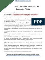 Simulado Concurso Professor de Educacao Fisica Questoes Concurso Pedagogia Simulado FORMACAO DOCENTE Docx