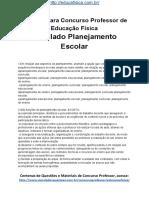 Simulado Concurso Professor de Educacao Fisica Questoes Concurso Pedagogia Simulado Planejamento Escolar Docx