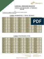Gabarito Oficial Trt 13ª região 2012 - jornalismo