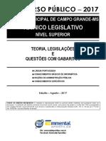 1 EA TLQ Lingua Portuguesa 2017 Camara Municipal Campo Grande-MS NS Demonstracao