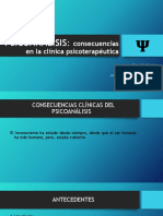 PSICOANÁLISIS CONSECUENCIAS CLINICAS.pptx