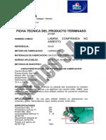 s 9100 Lamina Comprimida Nbr Fibra Aramida
