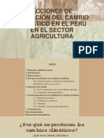 Acciones de Mitigación Del Cambio Climático en El