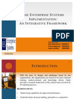 The Enterprise Systems Implementation