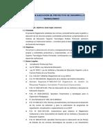 Reglamento de Ejecución de Proyectos de Desarrollo Tecnológico