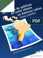 Definicion de Politicas de Suelo Urbanas Full Diego Erba