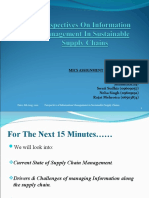 PERSPECTIVES OF INFORMATION MANAGEMENT IN SUSTAINABLE SUPPLY CHAINS