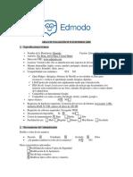 Grilla de Evaluación de Plataforma Edmodo