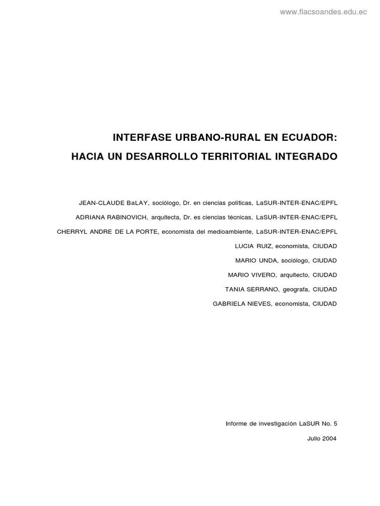 Tendencias de Desarrollo- Urbano y Rural af84acc1b2