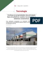 Plástico Na Construção Civil - Revista Téchne 04-2014