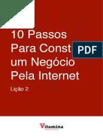 10 Passos Para Construir Um Negócio Pela Internet