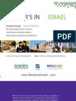 Masters in Israel