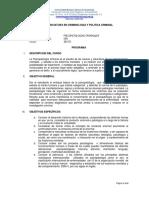 Programa Psicopatologías Criminales ECCC