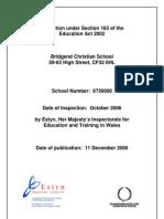 Bridgend Christian School 2007 Estyn