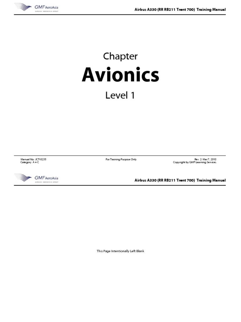 Avionics: Airbus A330 (RR RB211 Trent 700) Training Manual