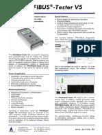 Data Sheet PROFIBUS-Tester V5