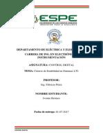 Criterio de Estabilidad en Sistemas LTI