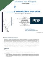 Plan de Formación Docente José Valente Arguello Solis