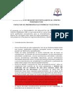 Reglamento de Requisitos Postulantes Al Centro Federado Fiee