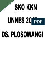 plang POSKO KKN UNNES 2017.docx