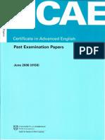 CAE June 2006 Past Paper.pdf