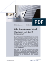 After knowing your friend - Was kommt nach dem IT-Outsourcing? (Detecon Executive Briefing)