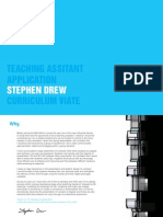 Stephen Drew - Teaching Assistant Application