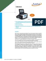 Additel 761 Pressure Calibrator Data Sheet