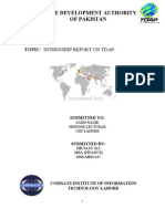 Final Internship Report on Tdap in Arial