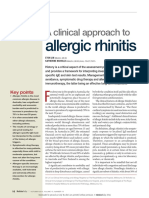 A Clinical Approach to Allergic Rhinitis