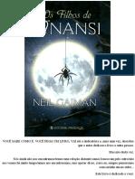 Neil Gaiman - Os Filhos de Anansi