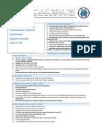 NDMO Evacuation Centre Checklist 2016