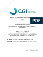 Tesina (TSD) Diplomado de Geomecánica - Mariella Paola MAMANI HUILLCA
