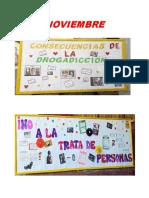 PERIÓDICO MURAL GRANDE/DROGADICCION/TRATA DE PERSONAS