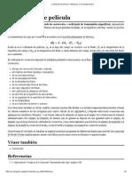 Coeficiente de Película - Wikipedia, La Enciclopedia Libre