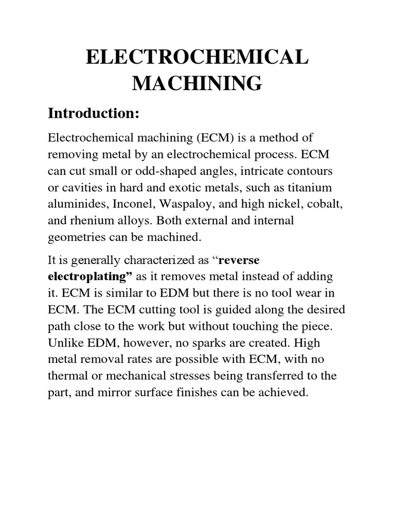 Electrochemical Machining | Physical Sciences | Science