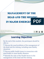 Module 14 Management of the Missing & Dead