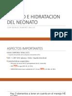 Manejo e Hidratacion Neonato